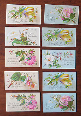 C4226 10 Small Victorian Greetings Cards