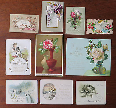 C4229 10 Victorian Greetings Cards: Mixed Subjects