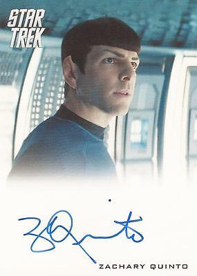 "Star Trek Movies Into Darkness - Zachary Quinto ""Spock"" Auto / Autograph Card"