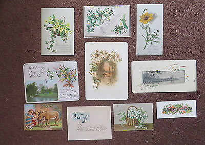 C4430 10 Victorian Greetings Cards: Mixed Subjects