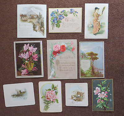 C4527 10 Victorian Greetings Cards: Mixed Subjects