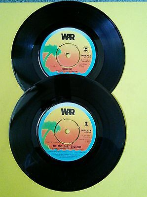 "War Cisco Kid & Me and My Baby Brother 2 x Island 7"" job lot"