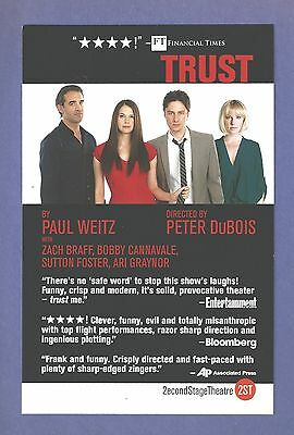 SUTTON FOSTER the TONY winner in off B'way play TRUST with BOBBY CANNAVALE