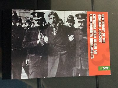 Stamps Ireland booklet    Centenary of the lock out €9.00