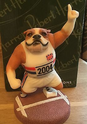 Bulldog Athlete Limited Edition Figurine By Robert Harrop - Doggie People