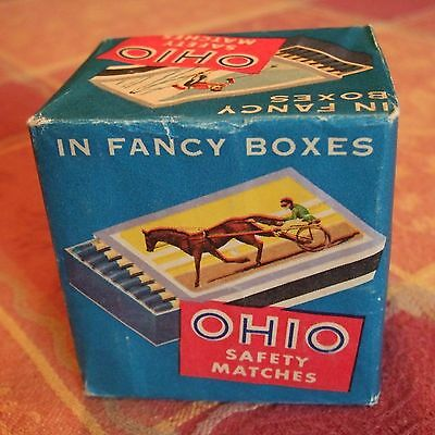 Vintage Ohio Safety Match Fancy Boxes Pack of 10 SEALED 1955 RARE