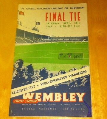 1949 Fa Cup Final Leicester City V Wolverhampton Wanderers 30-4-49