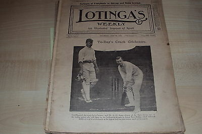 "Vintage magazine entitled ""LOTINGA'S WEEKLY"", illustrated journal of sport 1910"