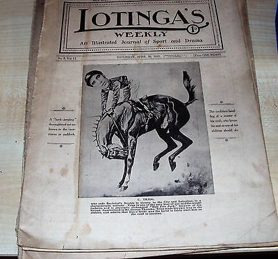 "Vintage magazine ""LOTINGA'S WEEKLY"", illustrated journal of sport April 30th1910"