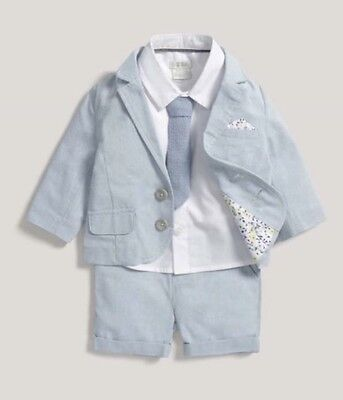 Brand New Mamas And Papas Baby Boys 4 Piece Suit RRP £50 Christening Wedding