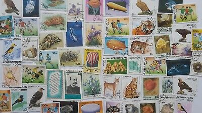 75 Different Azerbaijan Stamp Collection