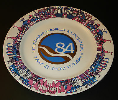 Vintage Louisiana World Exposition - May 12 - Nov 11, 1984 Plate - Made in Japan