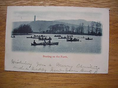 Stirling, Boating On The Forth, P/m 1905, Row Boats With Folk,