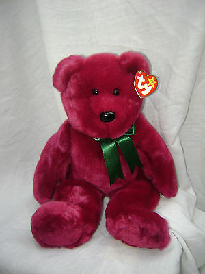 Adorable TY BUDDY Cranberry Bear NWT.