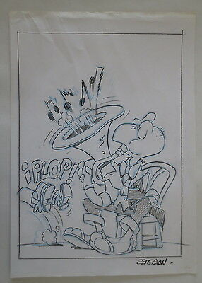 Dibujo Drawing Original Art Portada Cover Condorito De Esteban