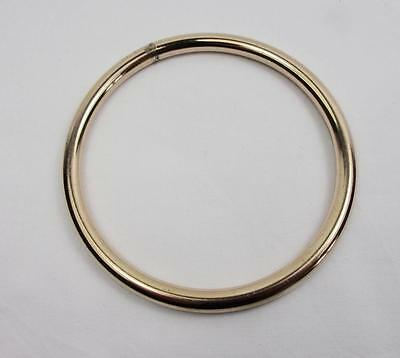 Large Victorian Rolled Gold Ladies Bangle