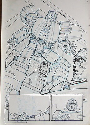 Idw Transformers Original Published Art By Atilio Rojo Pagina Comic Original