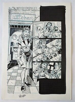 Original Art Page Grimm Tales Of Terror By Roger Bonet Pagina Original