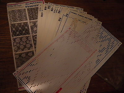 Vintage empiral knitmaster handy punch card set of 20cards plus 313 321 323 325