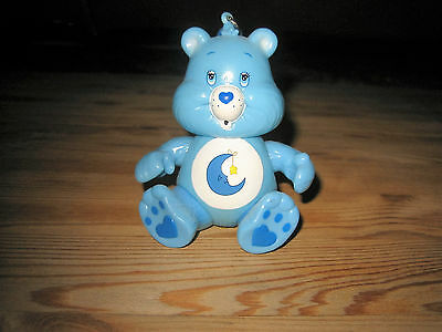 Retro Care Bears Bedtime Bear Poseable Keyring Key Chain Toy Figure