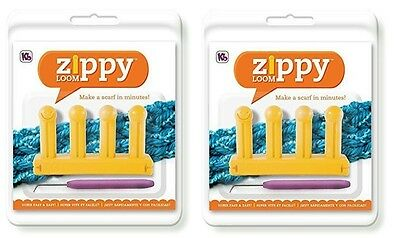 2 KB Authentic Kitting Board Zippy Looms Includes Hook and Instructions KB6500