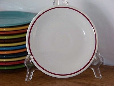 Fiesta® CRANBERRY - Post 86 - Stiped White Bread Butter Plate - Hard To Fina