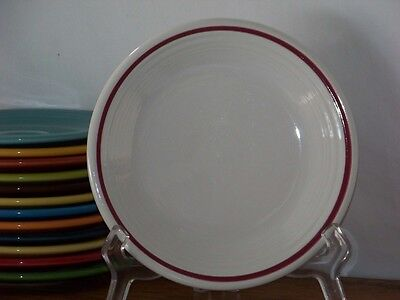 Fiesta® CRANBERRY - Post 86 - Stiped White Salad Plate - Hard To Fina