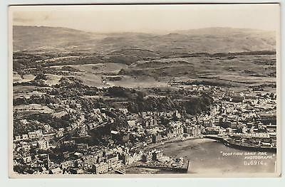 Oban in 1952 'Daily Mail' Aerial Real Photo PPC, incl Gas Works, VG Used 1952?
