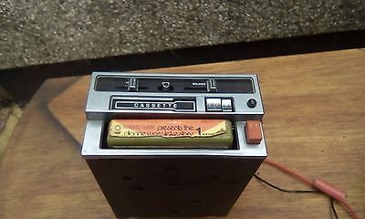 Vintage binatone 8 track double cassette tape player