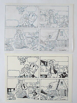 Pagina Original Art Page Disney Pato Donald Duck Anders And Por Esteban