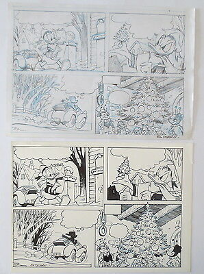 Pagina Original Art Comic Disney Pato Donald Duck Anders And Por Esteban