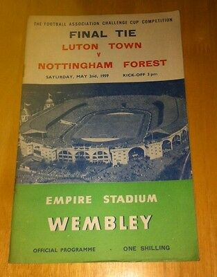 1959 Fa Cup Final Nottingham Forest V Luton Town 2-5-59