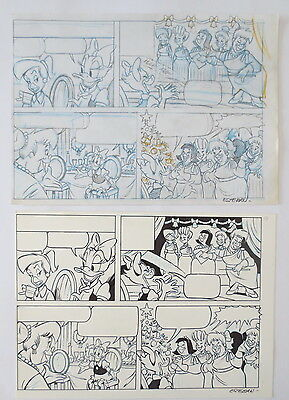 Pagina Original Art Disney Pato Donald Duck Anders And Por Esteban