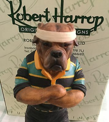 Rare Bullmastiff Northampton Saints Rugby Club Figurine Ltd Edition