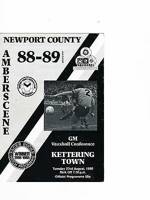 Newport County v Kettering Town 88/9 Conference, Last ever season, 1st home 8 pg