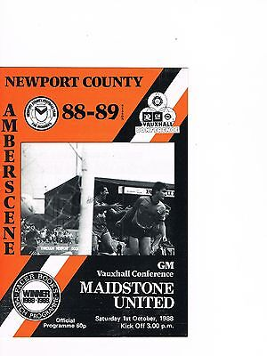 Newport County v Maidstone United 88/9 Conference, Last ever season