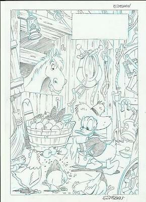 Drawing Pagina Original Comic Art Page Disney Anders Donald By Esteban