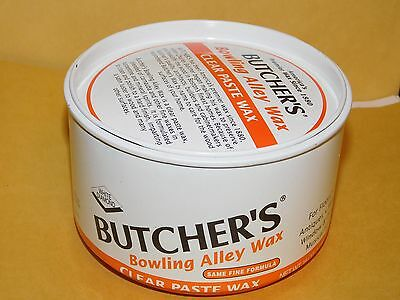 New Old Stock 1 Lb Can Butchers Bowling Alley Furniture Clear Paste  Wax