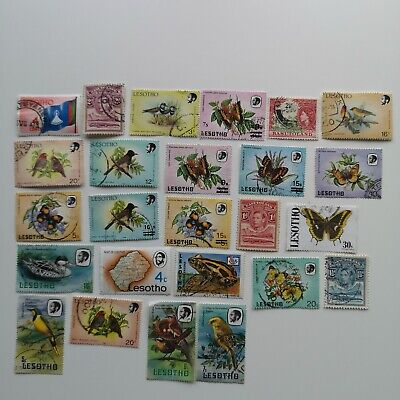 100 Different Basutoland & Lesotho Stamp Collection