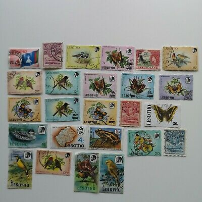 200 Different Basutoland & Lesotho Stamp Collection