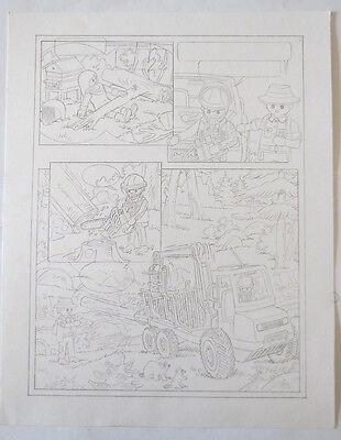 Pagina Original Comic Art Page Playmobil Mas Drawing Dibujo Original