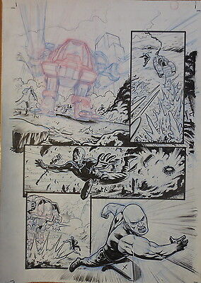 Pagina Original Line Of Defense De Atilio Rojo Original Comic Art Page Dc Comic
