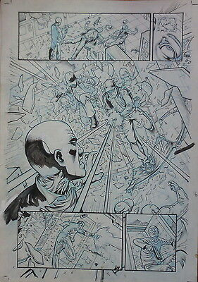 Pagina Original Gi Joe De Atilio Rojo Original Comic Art Page Idw Publishing