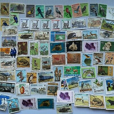 250 Different Bechuanaland and Botswana Stamp Collection