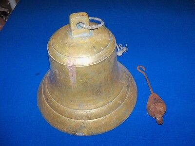 Scarce Antique Maritime Marine Nautical Brass Ships Ship Wreck Bell Marked