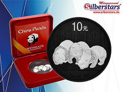 10 Yuan Silber China Panda 2013 Yin Yang  Edition in Box und CoA