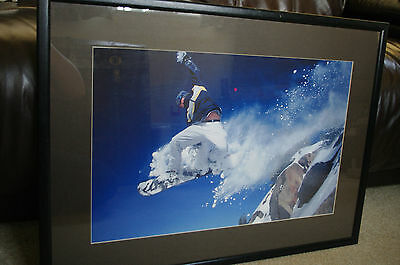 Snowboarder Photographic Framed Print