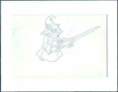 HE-MAN Masters of the universe ORKO Original Production Animation Cel Drawing