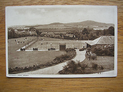Crieff, Macrosty Park, Tennis Courts, People