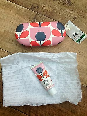 New Orla Kiely Sun Glasses Case Rose Mint Hand Balm Pink Black